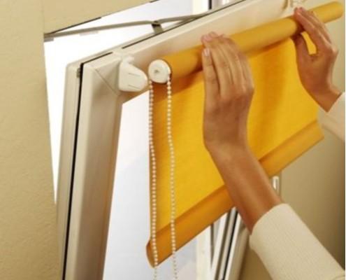 Montaż rolety materiałowej mini